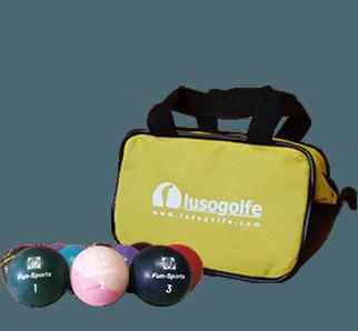bolas de minigolfe competição+saco pequeno